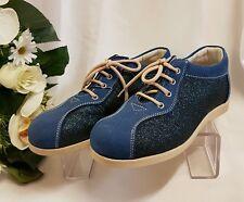 Enfants Filles Femmes Chaussures baskets Fabriqué Italie Bleu 6060 31