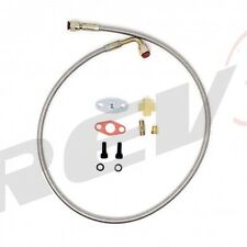Rev9 Turbo Oil Feed Line 4AN Female To 4AN Female 90 Degree To Straight 36 inch