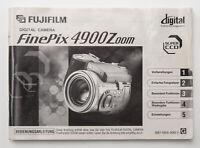Bedienungsanleitung Fujifilm FinePix 4900 Zoom Anleitung Instructions