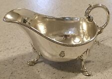 Shipping Line Crest Sauceboat Mappin & Webb Silver Plate  Collectible