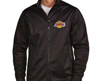 NBA Men's Los Angeles Lakers Antigua Black Golf Full-Zip Jacket NWT