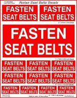 13 Fasten Seat Belt Decal Stickers. Laminated for Durability. Various Sizes