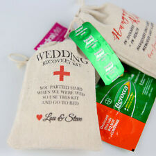 30-150 Wedding Favours Personalised Hangover Kits Bomboniere Survival Gift Bags