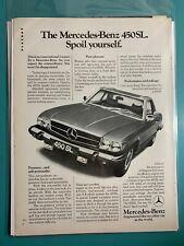 1974 ~ Mercedes-Benz 450SL ~ 1970s Vintage Print Ad ~
