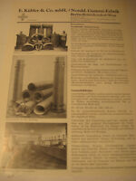 Berlin Firma:E.Kübler & Co,Gummi Werbeblatt 1944/48.Advertising 1944 Berlin