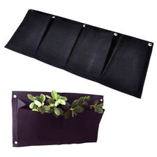 4 Pocket Vertical Garden Herb Wall Hanging Planter Planting Seeding Bag se