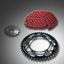gp-tech Factory ROUE à chaîne Noir Kit chaîne Esjot Rouge Suzuki RM 125 RMZ 250