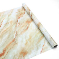 Self-adhesive Marble Wallpaper Cabinet Wall Stickers Kitchen Decor Waterproof 5m