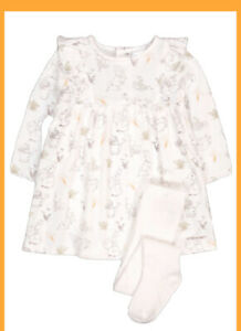 Peter Rabbit Baby Girls Dress And Tights Beatrix Potter   0/3 to 6/9 Months