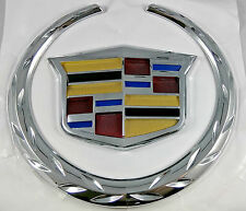 "New 6"" CADILLAC Front Grill Hood Badge Logo Emblem ORNAMENT Symbol Chrome Color"