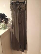 Coast olive green silk maxi dress size 8