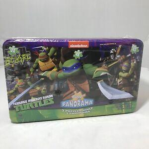 Nickelodeon Teenage Mutant Ninja Turtles 3 in 1 Puzzle Panorama Tin Box New