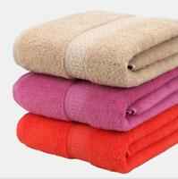 Plain Color Cotton Towel Soft Absorbent Thickening Bath Towels Company Gift