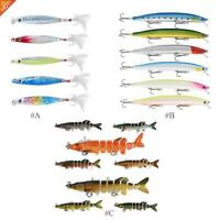 New Minnow Fishing Lures Crank Bait Hooks Bass Crankbaits Tackle Sinking Popper~