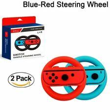 Nintendo Switch Steering Wheel Accessories Kit 2 Pack- Blue & Red UK STOCK