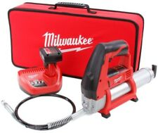 Electric Air Grease Gun Cordless Battery Charger Bleeder Valve Milwaukee M12