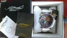 Ed Hardy Men's Revolution Flaming Cross, White Watch ABSOLUTELY GORGEOUS