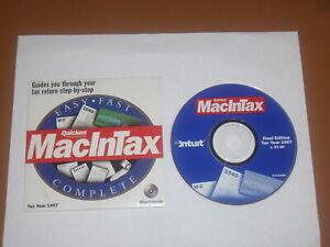 Quicken MacInTax 1997 Tax Year For Mac OS 7.6 to 9.x