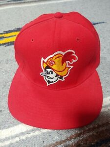 Vintage New Era Albuquerque Dukes Baseball Cap Red Snapback