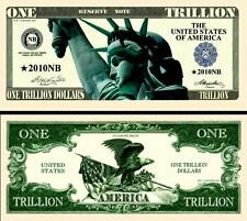 New-Style Liberty Trillion Dollar Bill Fake Funny Money Collector Novelty Note