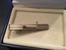 VTG Gold Tone Tie Clip with Blank Spot for Mono
