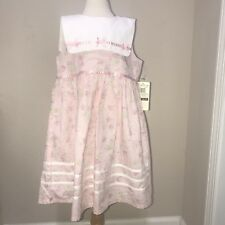 baby togs vintage floral Bib Collar Size 6X NWT