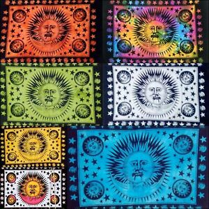 Collage Of Sun Wall Tapestry Hanging Hippie Moon Indian Psychedelic Decor Poster