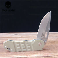 D2 Blade Ball Bearing Knives G10 Handle Folding Knife Survival Camping Hunting