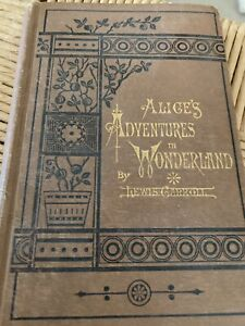 RARE Collectible Alice's Adventures in Wonderland by Lewis Carroll 1st Ed 1887