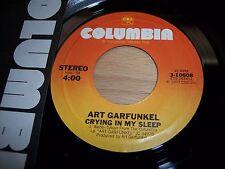 "NM 1977 Art Garfunkel Crying In My Sleep / Mr Shuck N Jive 7"" 45RPM w/ppr slv"