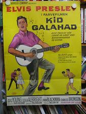 Kid Galahad - Harte Fäuste, heiße Liebe - Elvis Presley -Poster Plakat- DÄNEMARK
