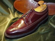 NEW - FLORSHEIM Imperial SHELL CORDOVAN Full Brogue Budapester,1980: 11E - 44.5E