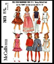 7673 McCall's BARBIE Pattern Fashion Doll Fabric Sewing Wardrobe Dress Shoe Pant