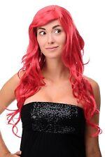 Perruque Rouge Femmes Vif Boucles Longue Raie sur le Côté 70cm 9204s-t1664