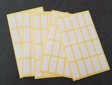 100 200 300 White Sticky Self Adhesive Stickers Labels Tags Jar Blank Plain File