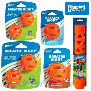 Chuckit Breathe Right Ball Stick Durable Throw Fetch Interactive Toy