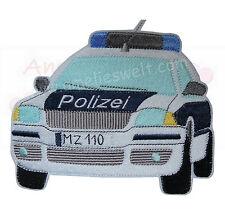 XL Polizeiauto Streifenwagen Aufbügler Aufnäher Bügelbild Patch Polizei