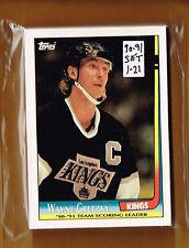 1990-91 Topps Insert set 1-21  Gretzky