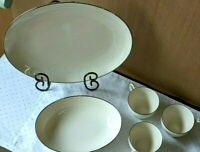 5 Piece Lot -12 In Platter - Serving Bowl - 3 Cups By Noritake-Montblanc  -Japan