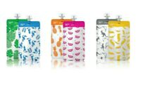Cherub Baby 10 PACK Reusable Food Pouches 120/180mL Yoghurt Storage Container