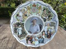 1993 Goss China Plate Queen Mother's 70 Years of Service to the Nation