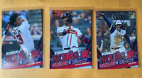 🎅🌲 RONALD ACUNA JR_2020 TOPPS UPDATE BASEBALL CARDs Lot Of 3 Cards💯📈🔥
