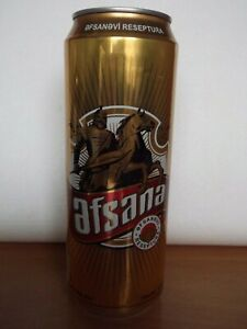 AFSANA empty beer can from AZERBAIJAN top opened 450ml OCOC