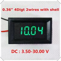 DC 3.5-30V 4 Digital Green LED Volt Voltage Meter Panel Voltmeter 5V 12V 24V Car