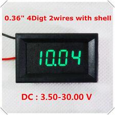 DC 3.50-30V 0.36'' 4 Digital LED Volt Voltage Meter Voltmeter 5V 12V Car Battery