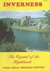 INVERNESS Official Holiday Guide c1975 history info illustrations adverts & Map