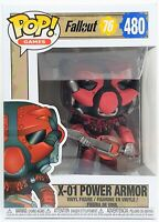 Funko Pop X-01 Power Armor Red # 480 Fallout 76 Game Vinyl Figure Brand New