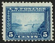 US Sc# 403 *UNUSED NG H* { 5c GOLDEN GATE } PERF 10' PANAMA PACIFIC 1914 SERIES