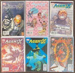 Agent X #3,5,6,9,12,15 Marvel Comics Deadpool X-Men lot Nm