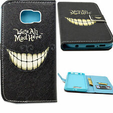 Flip Stand PU leather Case ID Card Holder Cash Slot Cover For Samsung Galaxy S6